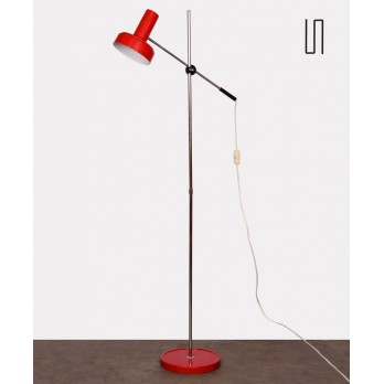 Metal floor lamp, Czech production of the 1970s