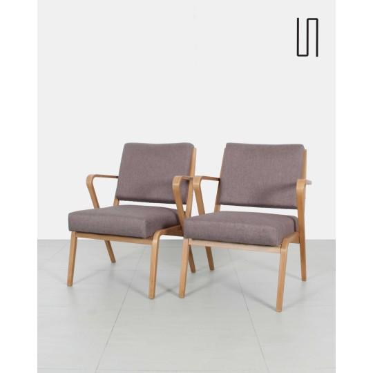 Paire de fauteuils de Selman Selmanagić, design des pays d'Europe de l'Est