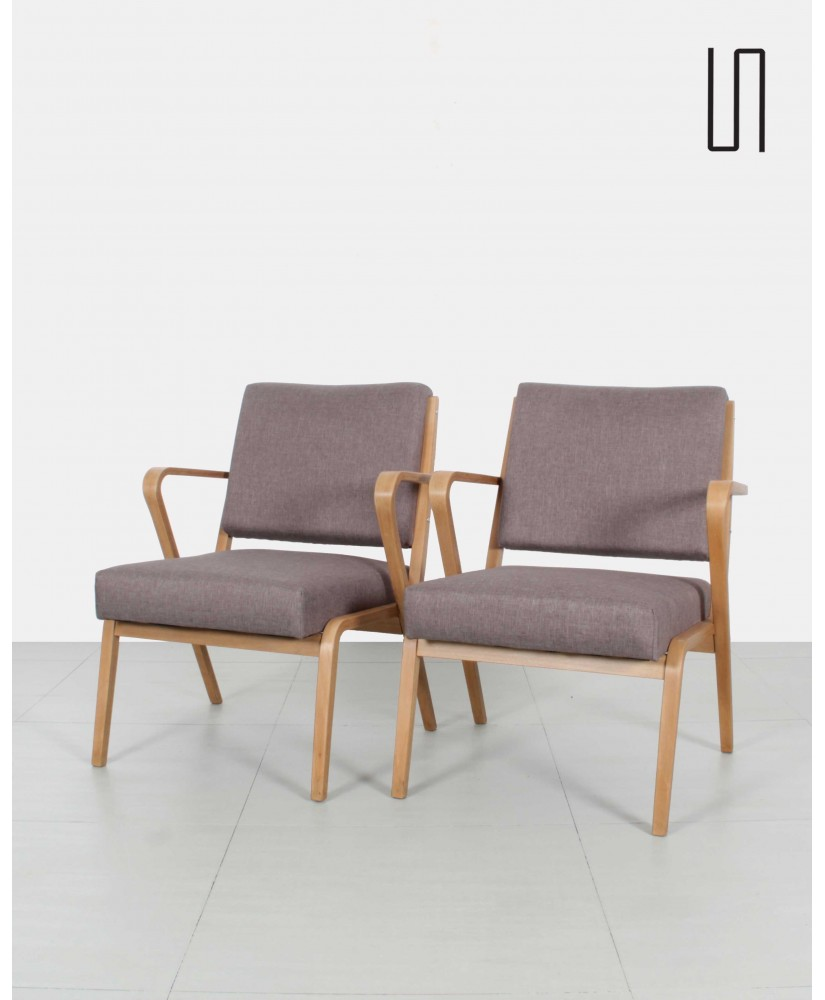 Pair of armchairs by Selman Selmanagić, soviet design