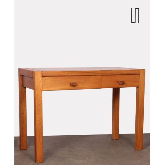 Elm desk produced by Maison Regain, 1970s
