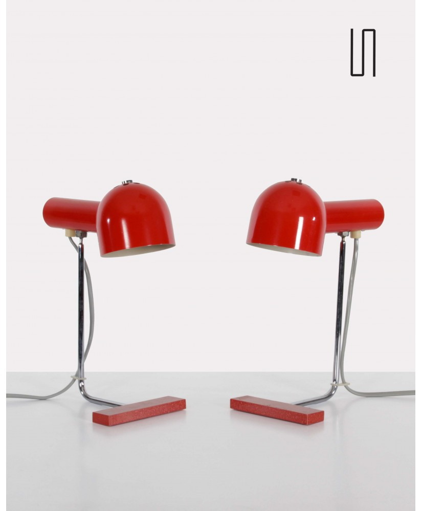 Pair of lamps from the Eastern countries of Josef Hurka for Napako, soviet design