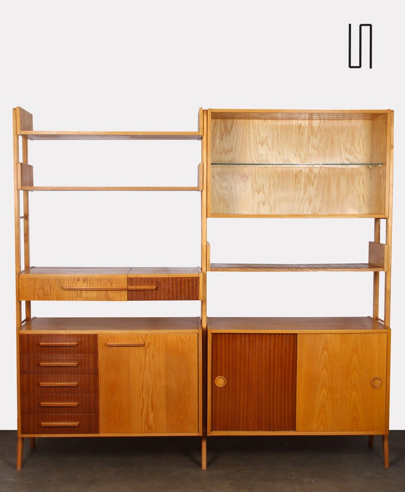 Vintage wall unit, Czech design from the 1960's