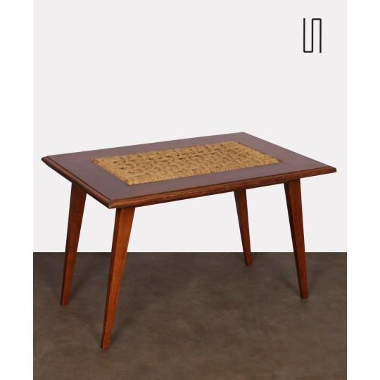 Table basse vintage par Audoux & Minet pour Vibo, 1960