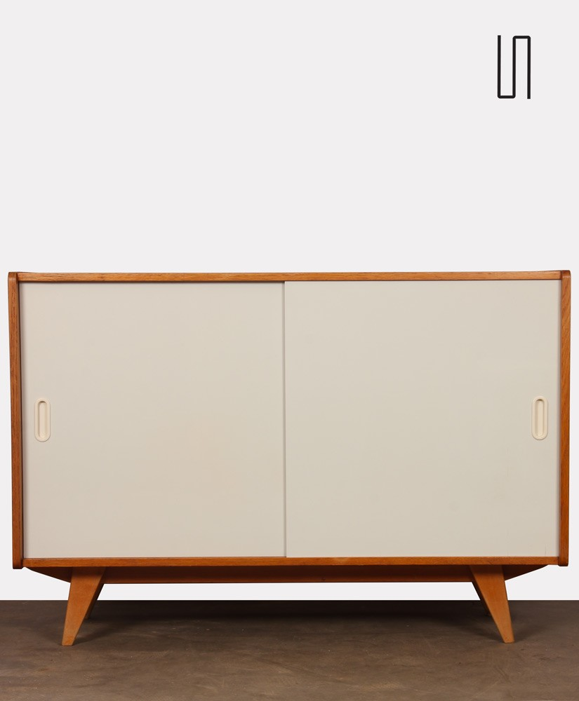 Vintage chest with white doors by Jiroutek, model U-452, 1960s