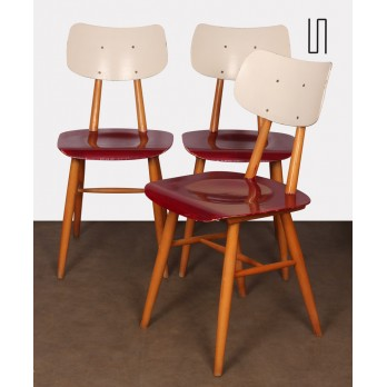 Suite of 3 chairs produced by Ton, 1960