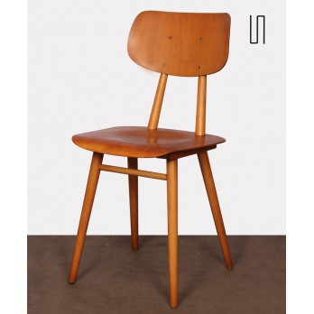 Vintage wooden chair made by Ton, 1960s