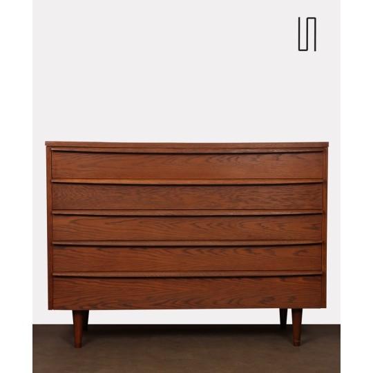 Vintage oak chest of drawers produced by Drevozpracujici podnik, 1960s