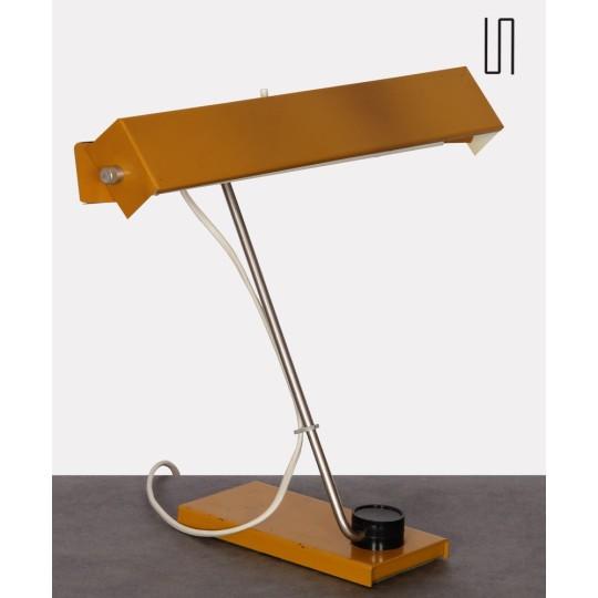 Lampe en métal, design tchèque des années 1970