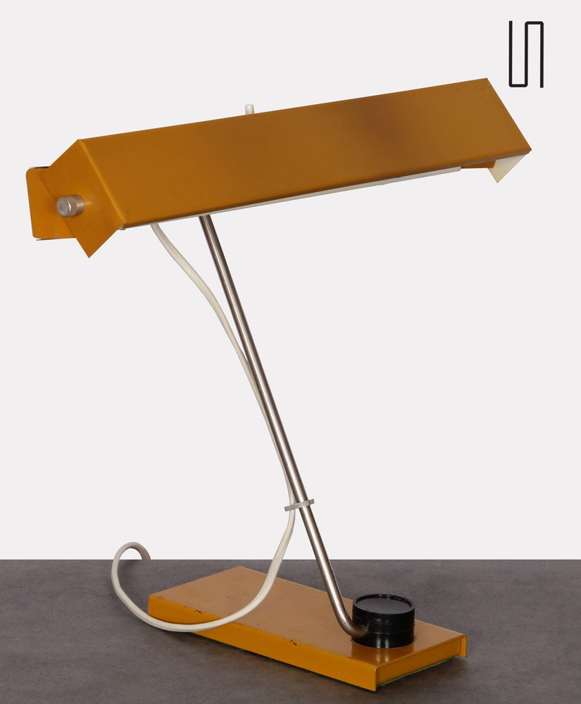 Metal lamp, Czech design from the 1970s