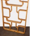 Solid wood room divider, Czech production in the taste of Ludvik Volak