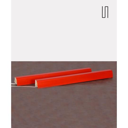 Paire de longues appliques vintage par Josef Hurka pour Lidokov, 1960