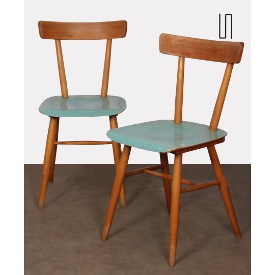Paire de chaises éditées par Ton, 1960