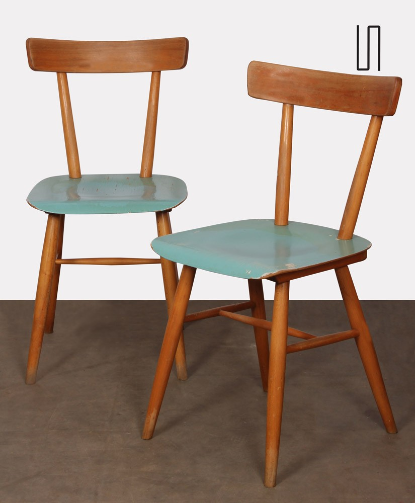 Pair of chairs produced by Ton, 1960s