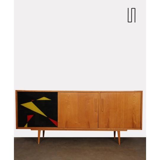 Enfilade vintage en bois et verre des années 1960, design tchèque
