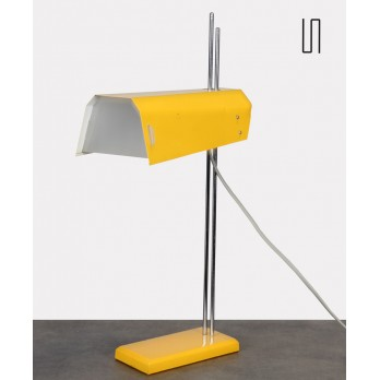 Yellow metal lamp designed by Josef Hurka for Lidikov, 1970s