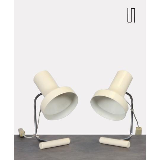 Paire de lampes à poser par Josef Hurka pour Napako vers 1970
