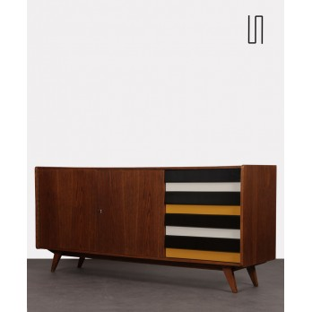 Yellow and black sideboard by Jiri Jiroutek for Interier Praha, U-460, 1960s