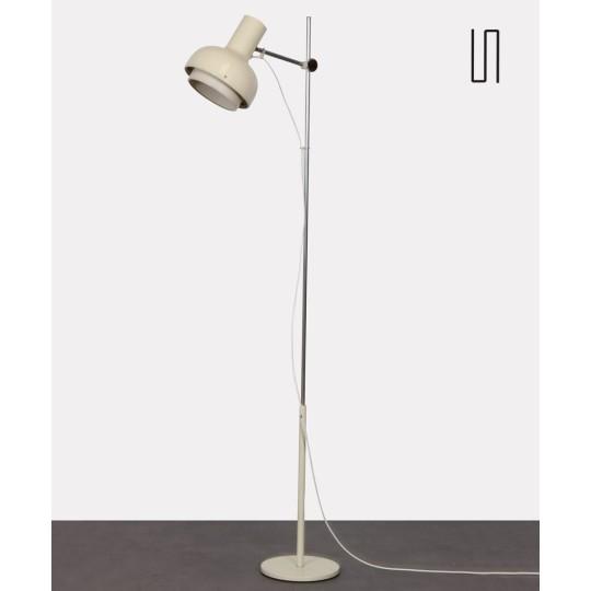 Lampadaire blanc en métal édité par Napako, 1970
