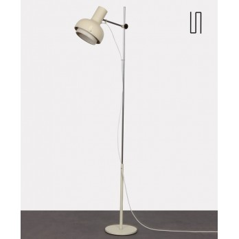 White metal floor lamp produced by Napako, 1970s