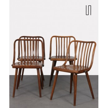 Set of 4 vintage chairs by Antonin Suman for Ton, 1960s