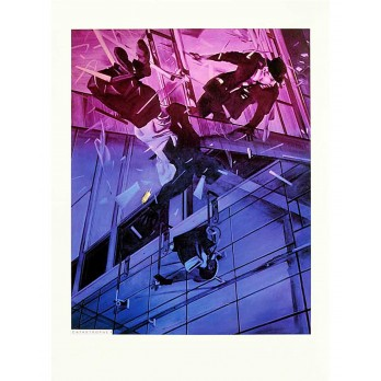 Screenprint - Jacques Monory - Catastrophe IV