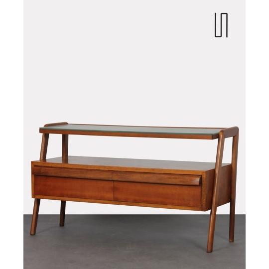 Rangement vintage en bois, fabriqué par Jitona vers 1960