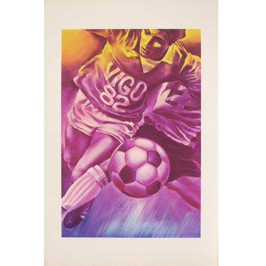 Sérigraphie - Jacques Monory - Footballeur