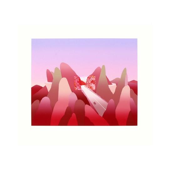 Screenprint - Jean-Michel Folon - Je vous écris des montagnes rocheuses