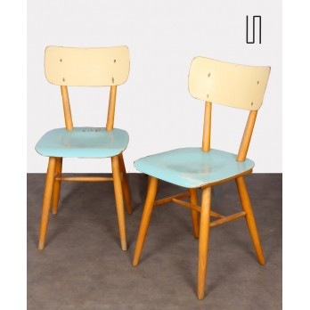 Set of 4 chairs for the Czech publisher Ton, 1960s