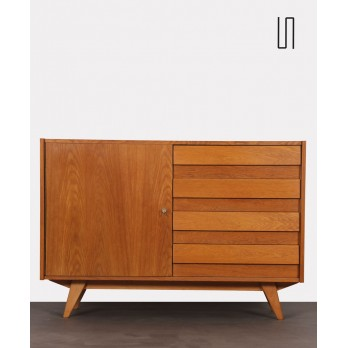Oak storage unit by Jiri Jiroutek, model U-458, 1960s