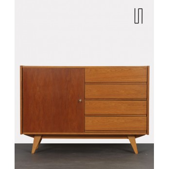 Vintage oak chest of drawers by Jiri Jiroutek, model U-458, 1960s