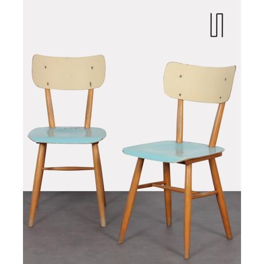 Paire de chaises pour l'éditeur tchèque Ton, 1960