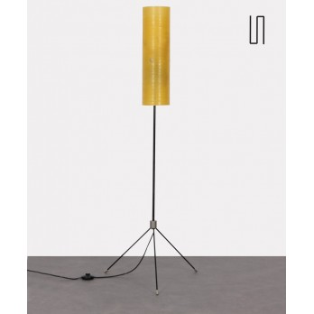 Floor lamp in metal and fiberglass, Czech production, 1960s