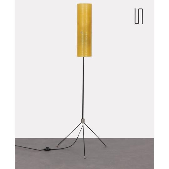 Lampadaire en métal et fibre de verre, fabrication tchèque, 1960