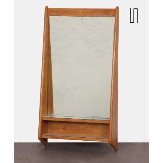 Miroir vintage en bois, design provenant de République tchèque, 1960