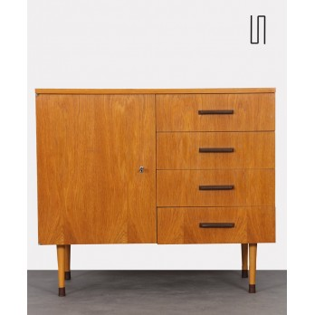 Vintage oak chest of drawers produced by UP Zavody in 1974