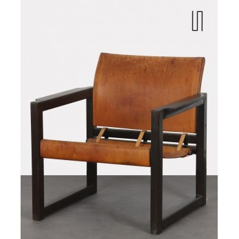 Vintage leather armchair, Karin Mobring for Ikea, Diana model, 1970s