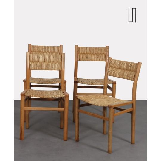Suite de 4 chaises par Pierre Gautier-Delaye, modèle Week-End, 1950