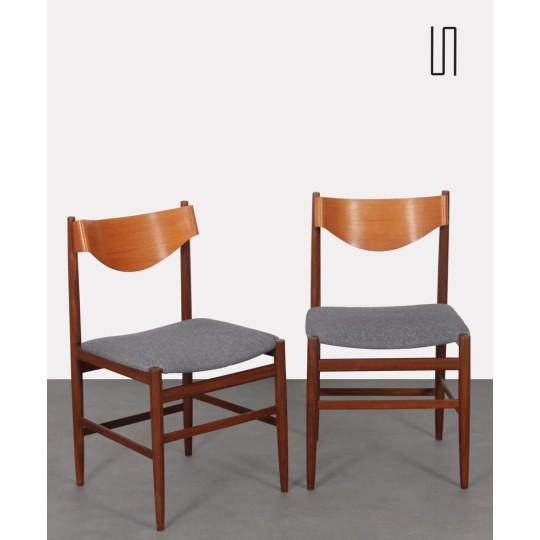 Paire de chaises par Gianfranco Frattini pour Cassina, 1960