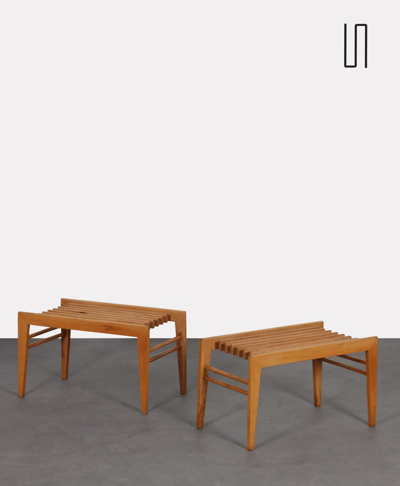 Pair of small Czech coffee tables dating from the 1960s