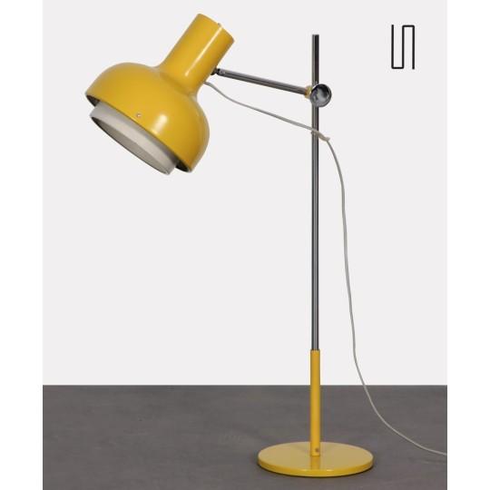 Grande lampe jaune par Josef Hurka, 1970