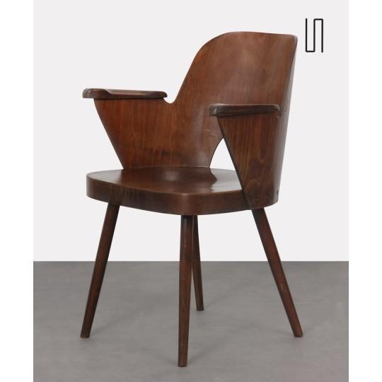 Fauteuil en bois par Lubomir Hofmann pour Ton, 1960