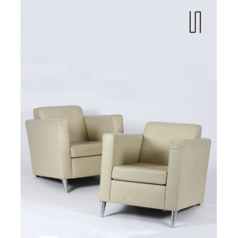 Pair of Len Niggelman armchairs by Starck for 3 Suisses, 1986