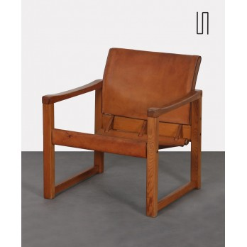 Leather armchair by Karin Mobring for Ikea, Diana model, 1970s