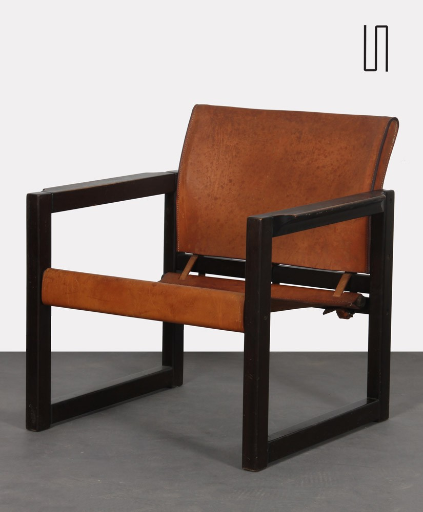 Leather armchair by Mobring for Ikea, Diana model, 1970