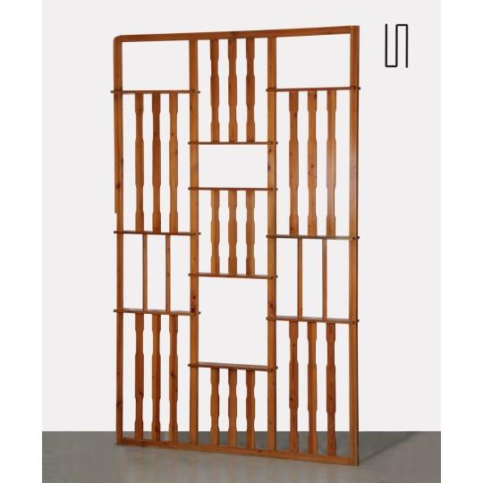 Grand claustra vintage en pin, fabrication tchèque, 1970