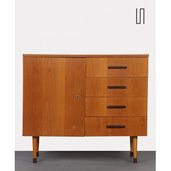 Small vintage wooden chest of drawers by UP Zavody in 1970s