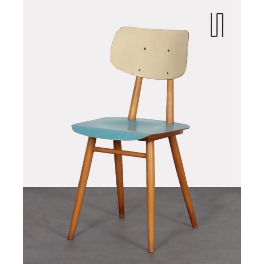 Chaise vintage en bois produite par Ton, 1960