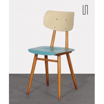 Vintage wooden chair produced by Ton, 1960s