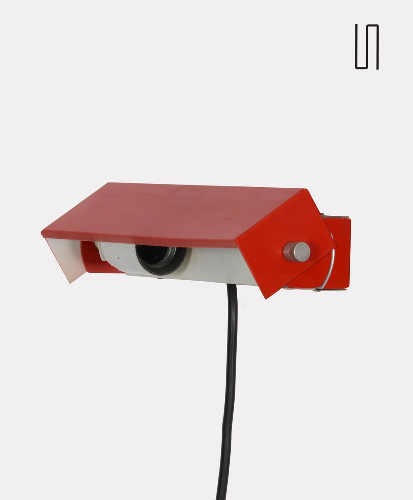 Metal wall lamp, Czech design from the 1970s